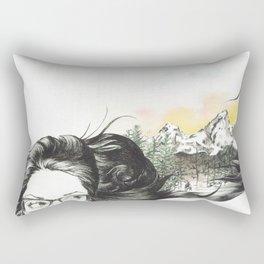 Tetons On My Mind  Rectangular Pillow