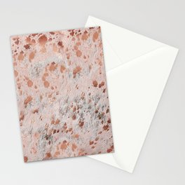 Rose Gold Cow Hide Print  Metallic Copper Stationery Cards