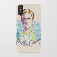 downton abbey iPhone & iPod Cases featuring RIP Matthew Crawley, of Downton Abbey.  by Erin Gallagher Illustration and Design