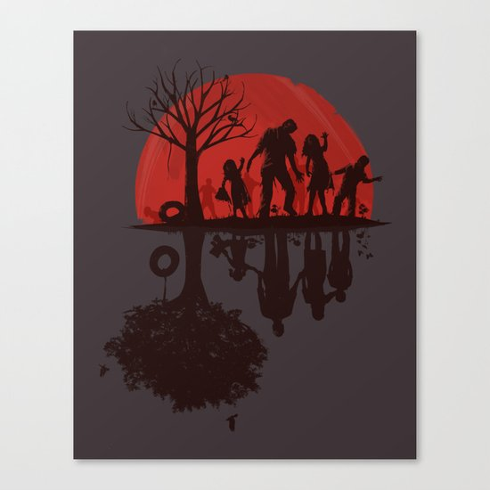 A Family Once (dark version) Canvas Print