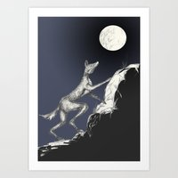 moonrise Art Prints featuring Moonrise by Alexandra Sutherland
