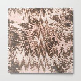 Desert Hippie Pattern   Blush Pink   Faded   Vintage   Sound Waves   Nature Metal Print
