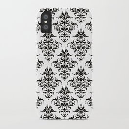 Damask Pattern | Black and White iPhone Case