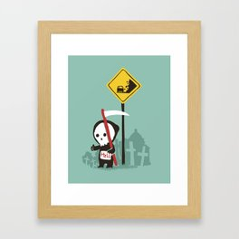 Highway to hell Framed Art Print