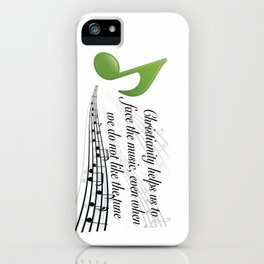 Face the Music iPhone Case