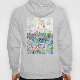 boston city skyline map Hoody