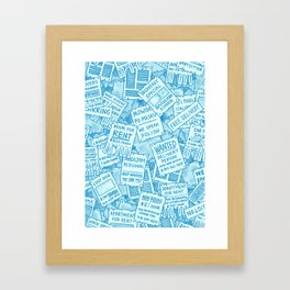 Flyers Framed Art Print