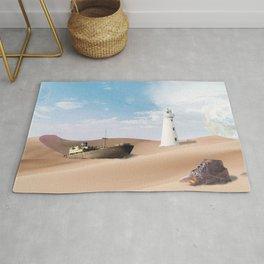 Surreal Desert - original collage in Sci-Fi style Rug