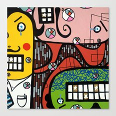 the UNCSCRUPULOUS NONSENSICAL IRREPRESSIBLY INFINITESIMAL INFESTATION of GREED Canvas Print