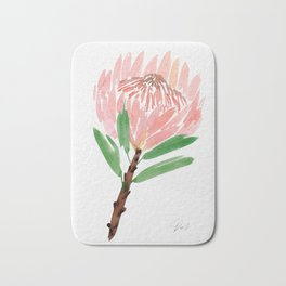 King Protea in Blush Pink Bath Mat