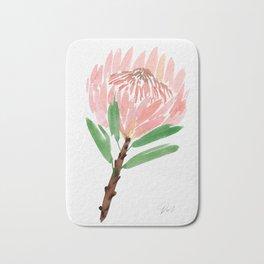 King Protea in Blush Pink Bath Mat