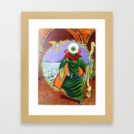The Ymid steps through the Gate Framed Art Print