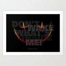 don't wake what's inside me! Art Print