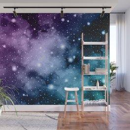 Purple Teal Galaxy Nebula Dream #2 #decor #art #society6 Wall Mural