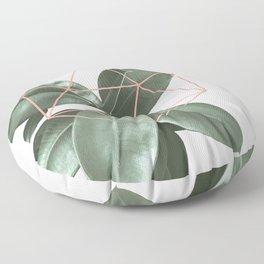 Geometric greenery Floor Pillow