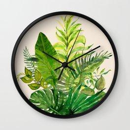 Leaves 1 Wall Clock