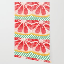 Red Grapefruit Abstract Wallpaper