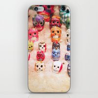 sugar skulls iPhone & iPod Skins featuring Sugar Skulls by Jenndalyn