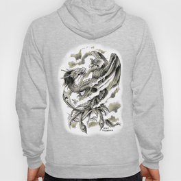 Dragon Phoenix Tattoo Art Print Hoody