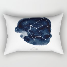 Zodiac Star Constellation - Aquarius Rectangular Pillow