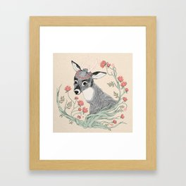 The deer from the forest Framed Art Print