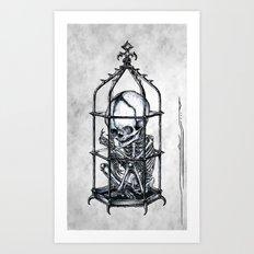 Fetus Cage Art Print