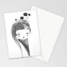 Dark Poppies Stationery Cards