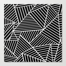 Ab Lines Zoom Black Canvas Print