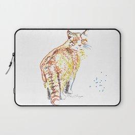 Whimsical Alley Cat Art Laptop Sleeve
