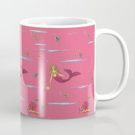 Fashionable mermaid - pink Coffee Mug
