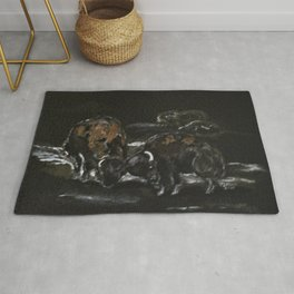 Office Fight Rug