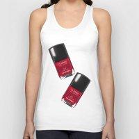 nail polish Tank Tops featuring Nail Polish Rouge Rubis by BeckiBoos