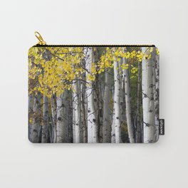 Yellow, Black, and White // Aspen Trees in Crested Butte Carry-All Pouch
