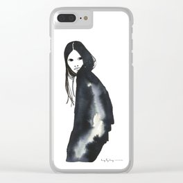 Girl in black Clear iPhone Case