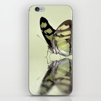 malachite iPhone & iPod Skins featuring Malachite reflection by Lyn Evans