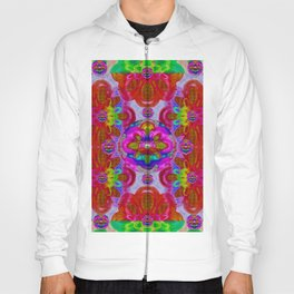 fantasy   florals  pearls in abstract rainbows Hoody