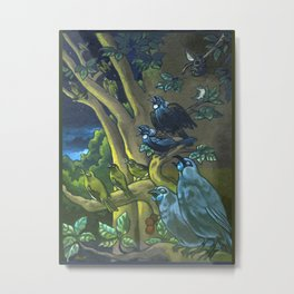 Dawn Chorus in the Primeval New Zealand Wilderness Metal Print