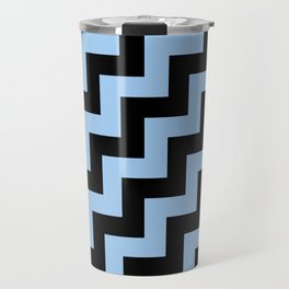 Black and Baby Blue Steps RTL Travel Mug
