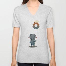 Little Bot Unisex V-Neck