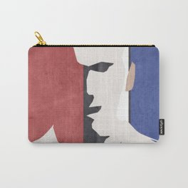 Zinedine Zidane, minimal portrait, Zizou, illustration, french football player, soccer, ballon d'or Carry-All Pouch