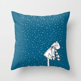 Snoweater Throw Pillow