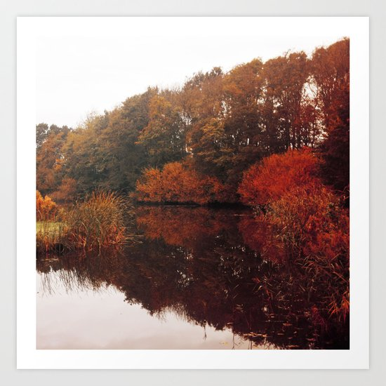 Autumn Scenery #5 Art Print