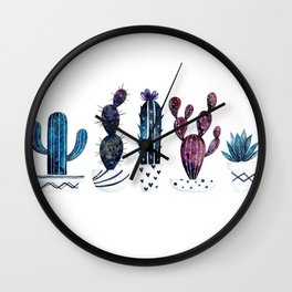 Cosmos Cacti I (Five) Wall Clock