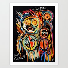 Anima Mia Street Art Graffiti Art Brut Art Print