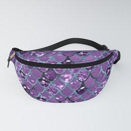Purple Teal Mermaid Scales Glam #1 #shiny #decor #art #society6 Fanny Pack