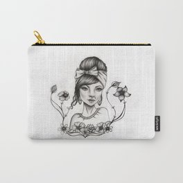 Pinup Flower Carry-All Pouch