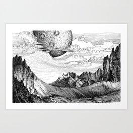 The mountains Kunstdrucke