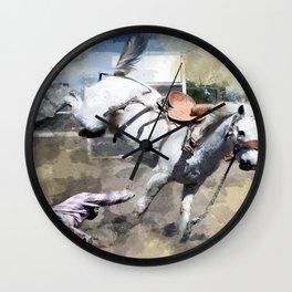 Bucking Bronco 1 Cowboy 0 Wall Clock