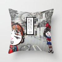 manga Throw Pillows featuring Shoujo Manga  by I love Bubbah