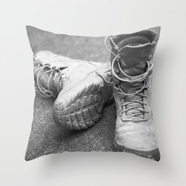 A Mile in My Boots Throw Pillow